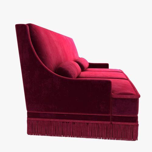 ... Custom Made Red Velvet Sofa 3d Model Max Obj Mtl 3ds Fbx Stl  Unitypackage Prefab 5 ...