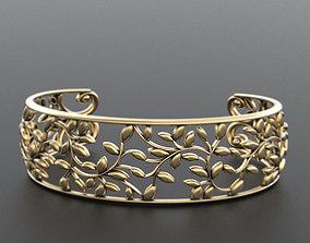3D print model Stylish elegant bracelet with leaves