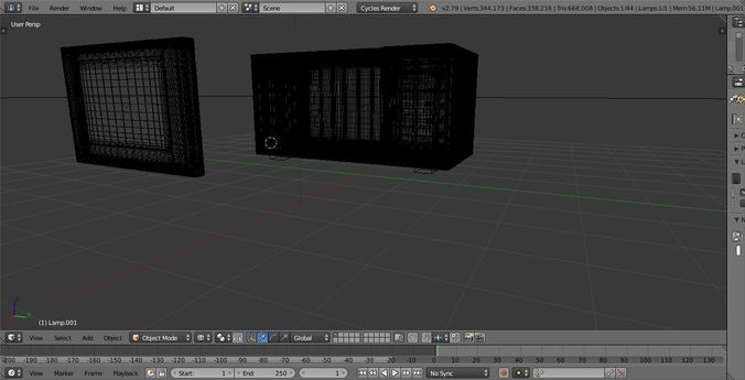 microwave 3d model blend 1