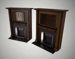 3D model Antique fireplace