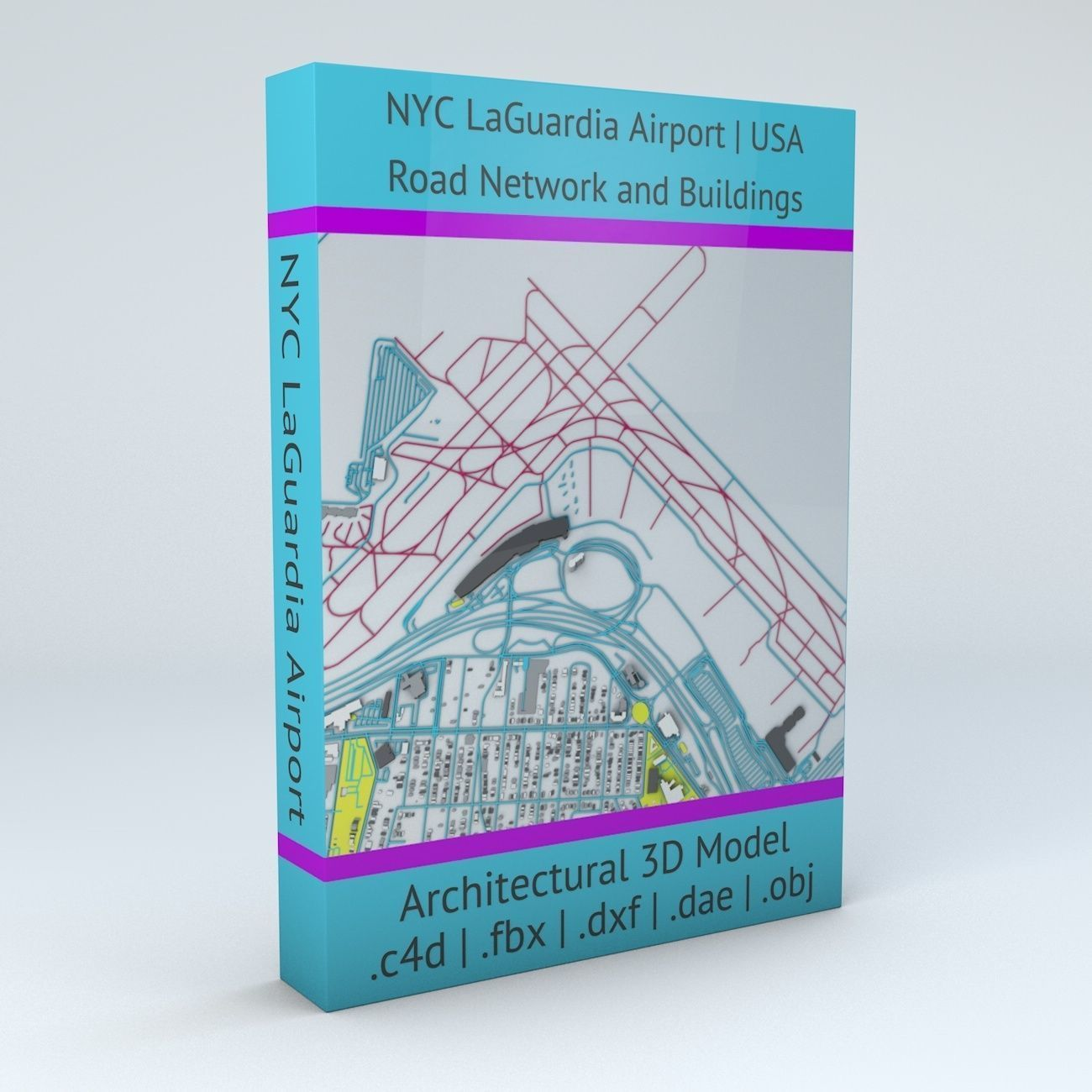 New York LaGuardia LGA Airport Roads and Buildings