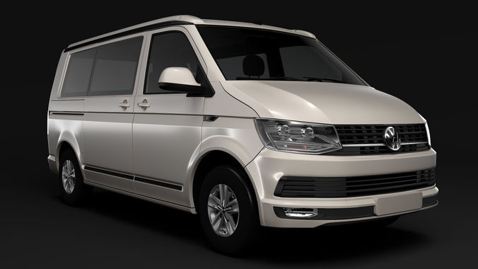 VW California T6 2018 3D Model