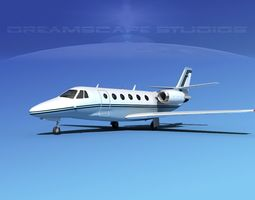 3D rigged Cessna C560XL Citation V03