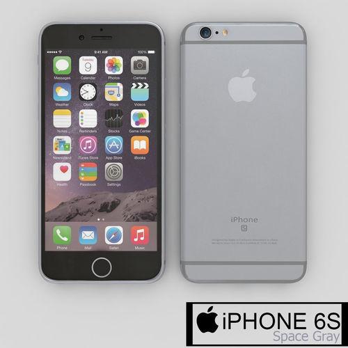 3d apple iphone 6s silver cgtrader. Black Bedroom Furniture Sets. Home Design Ideas