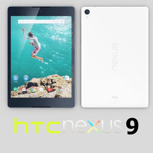 htc nexus 9 white 3d model obj mtl 3ds fbx 1