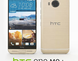 HTC One M9 Plus Amber Gold 3D