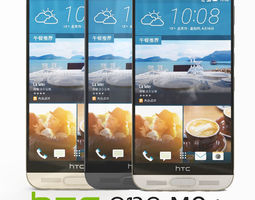 3D HTC One M9 Plus in all colours