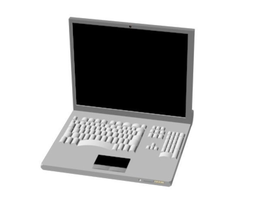 Laptop 3D electronic