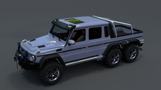 mercedes benz g63 amg 6x6 2017 low poly 3d model