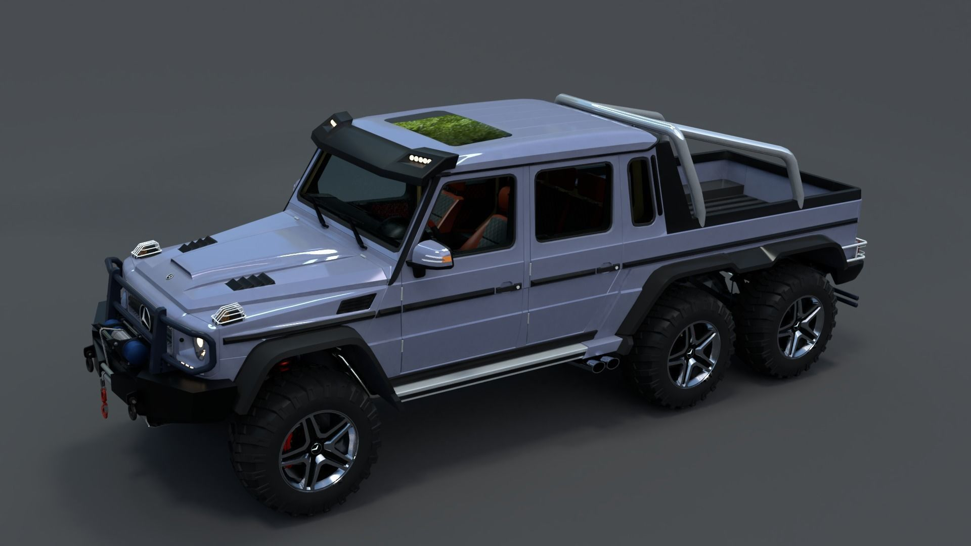 G63 Amg 6X6 >> Mercedes Benz G63 Amg 6x6 2017 Low Poly 3d Model