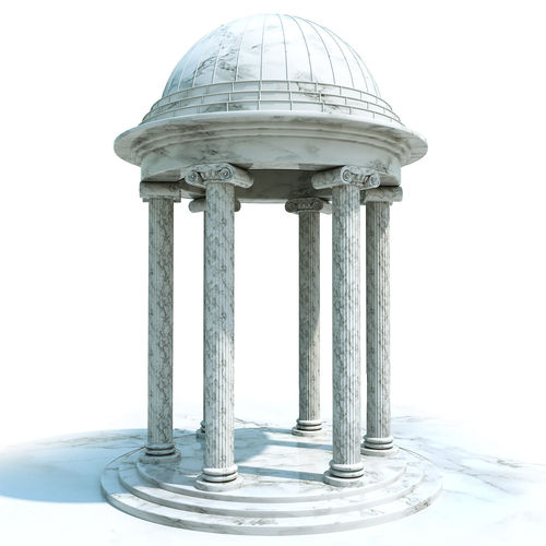 classic rotunda 3d model max obj mtl fbx mat 1