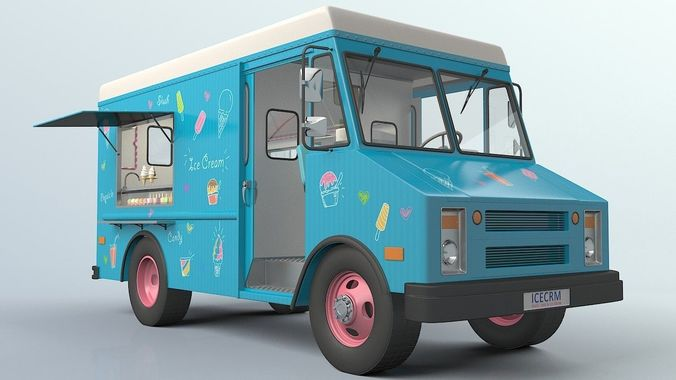 3d model ice cream truck cgtrader