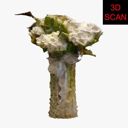 3d scan flower 001 3d model max obj fbx mtl 1