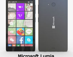 3D model Microsoft Lumia 540 Dual SIM Black