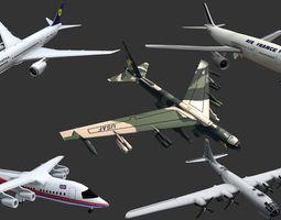 3D asset Aircrafts Collection