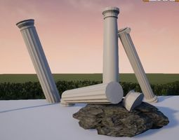 3D model Ionic Doric and Tuscan COLUMNS
