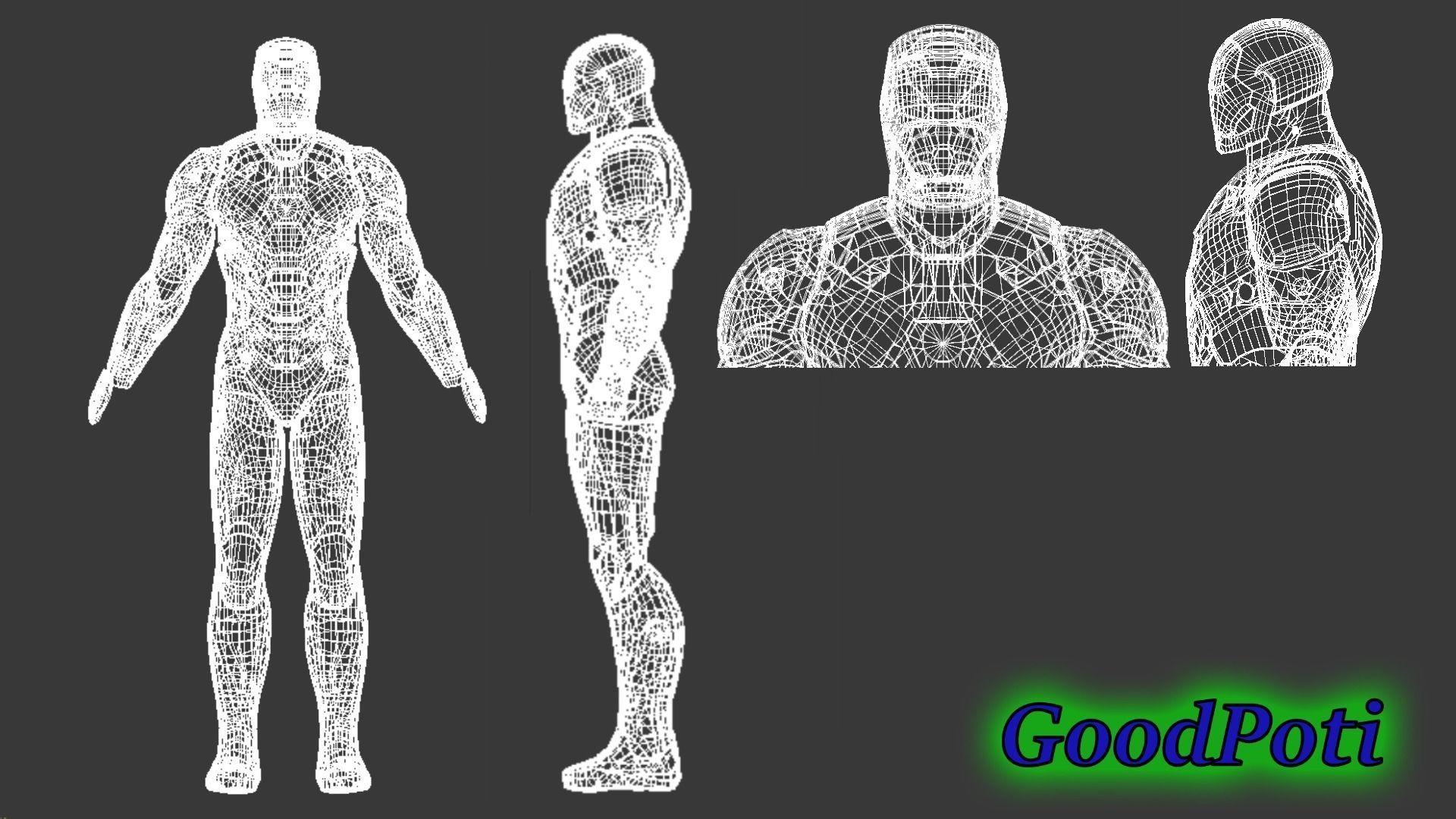 Iron Man Mark46 costume for print 3D printable model