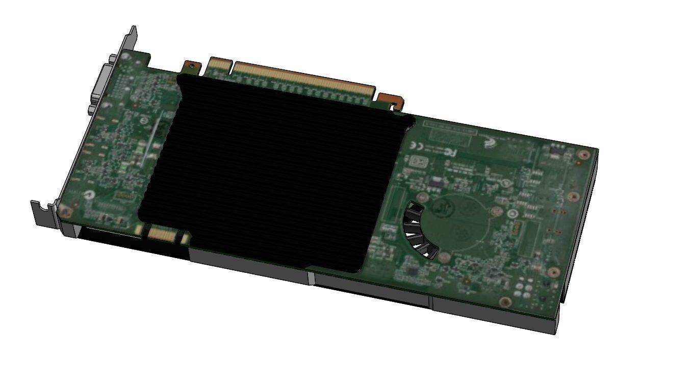 NVIDIA Quadro 4000 GPU | 3D model