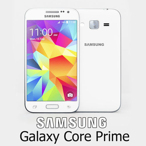 samsung galaxy core prime white 3d model max obj mtl 3ds fbx 1