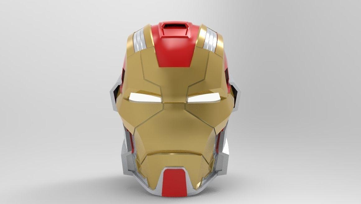 Iron Man MK 17 Heartbreaker Helmet for 3d Printing