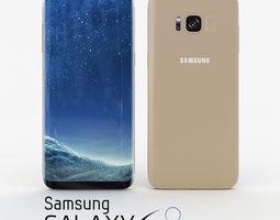 maple 3D model Samsung Galaxy S8 Maple Gold
