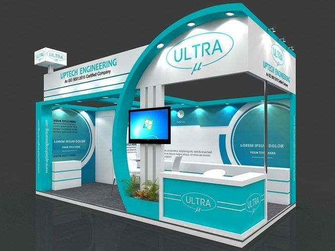 Exhibition Stall D Model : Exhibition stall d model mtr sides open