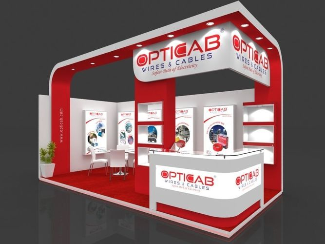 Stall Arrangement For Exhibition : Exhibition stall d model mtr sides open opticab