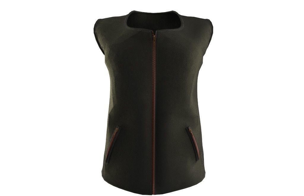 women vest cowhide leather