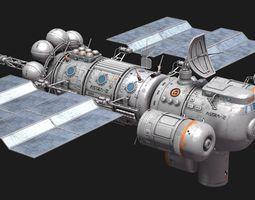 3D model Space ship station