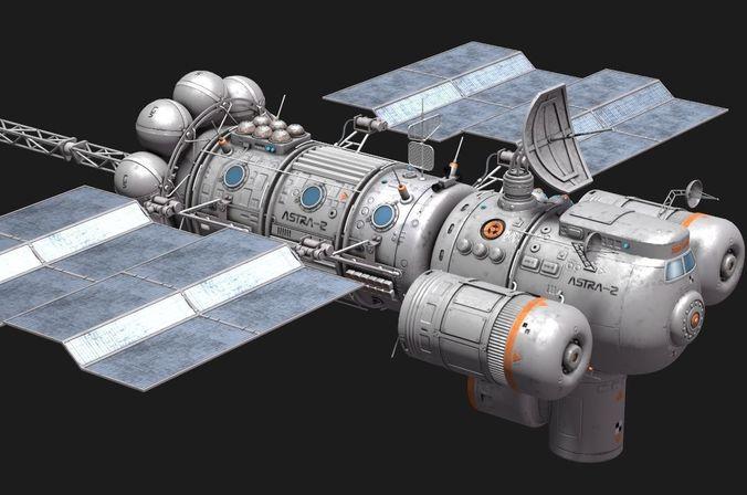 space ship 3d model max fbx ma mb stl 1