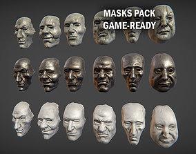 Masks pack 3D asset