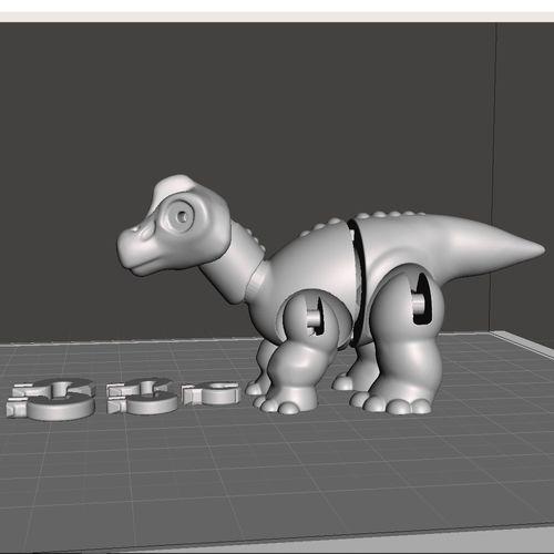 brachiosaurus littlefoot 3d model stl 1