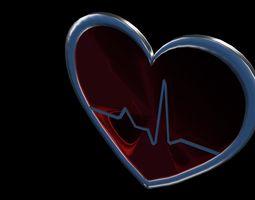 Heart pulse 3D model