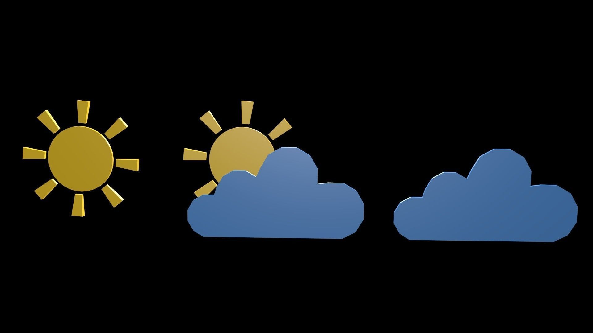 Low poly weather symbol