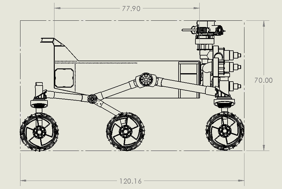 mars curiosity rover technical drawing - photo #22