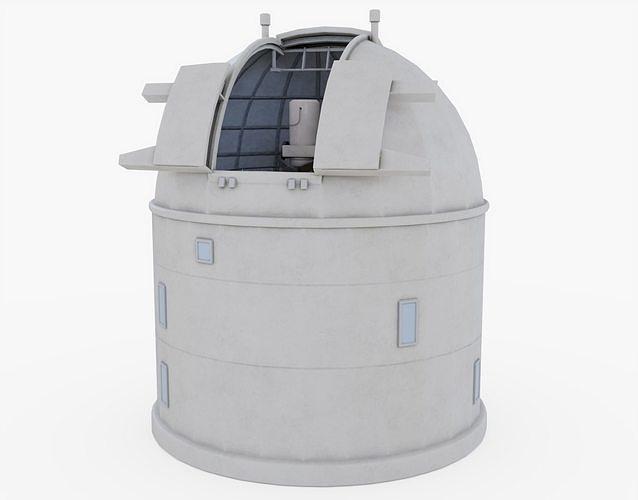 optical ground station telescope - inside and outside 3d model obj mtl 3ds fbx stl blend 1