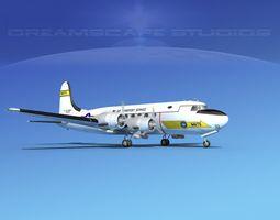 Douglas C-54 Skymaster V06 3D model