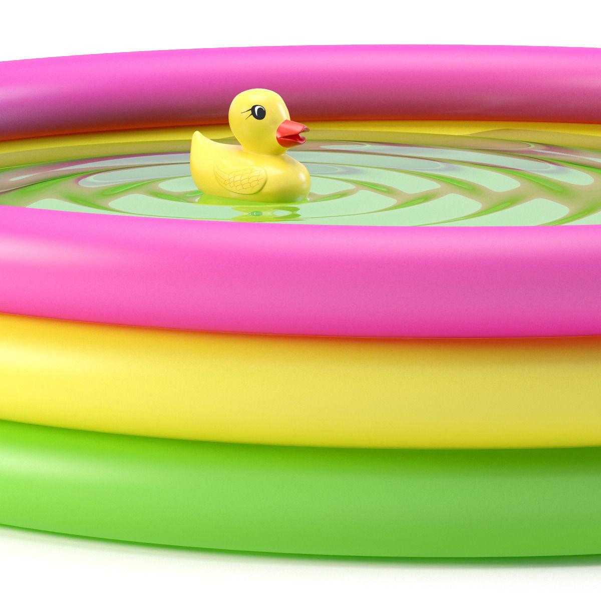... Inflatable Pool 3d Model Max Obj 3ds Fbx Mtl 4 ...