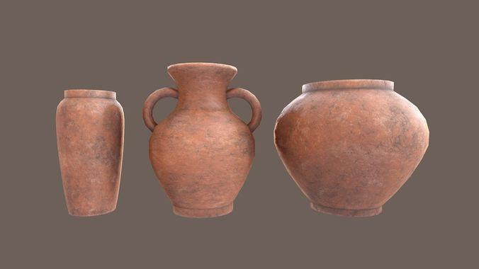 Clay Vase Pack 3d Model Cgtrader