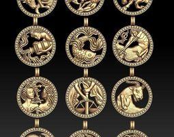 stl 3D print model jewellery horoscope signes pack