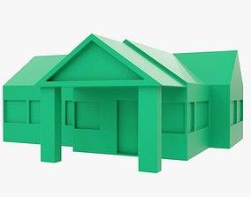One-floor house for 3DPrint