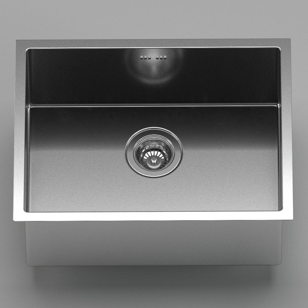 Kraus Undermount kitchen sink 3D model | CGTrader
