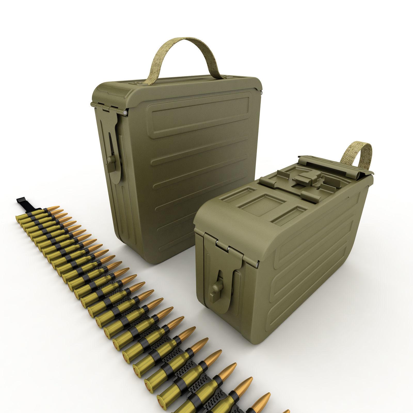 ammunition boxes for machine gun
