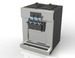 Soft Ice Cream Machine 3D model