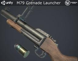 3D asset M79 Grenade Launcher