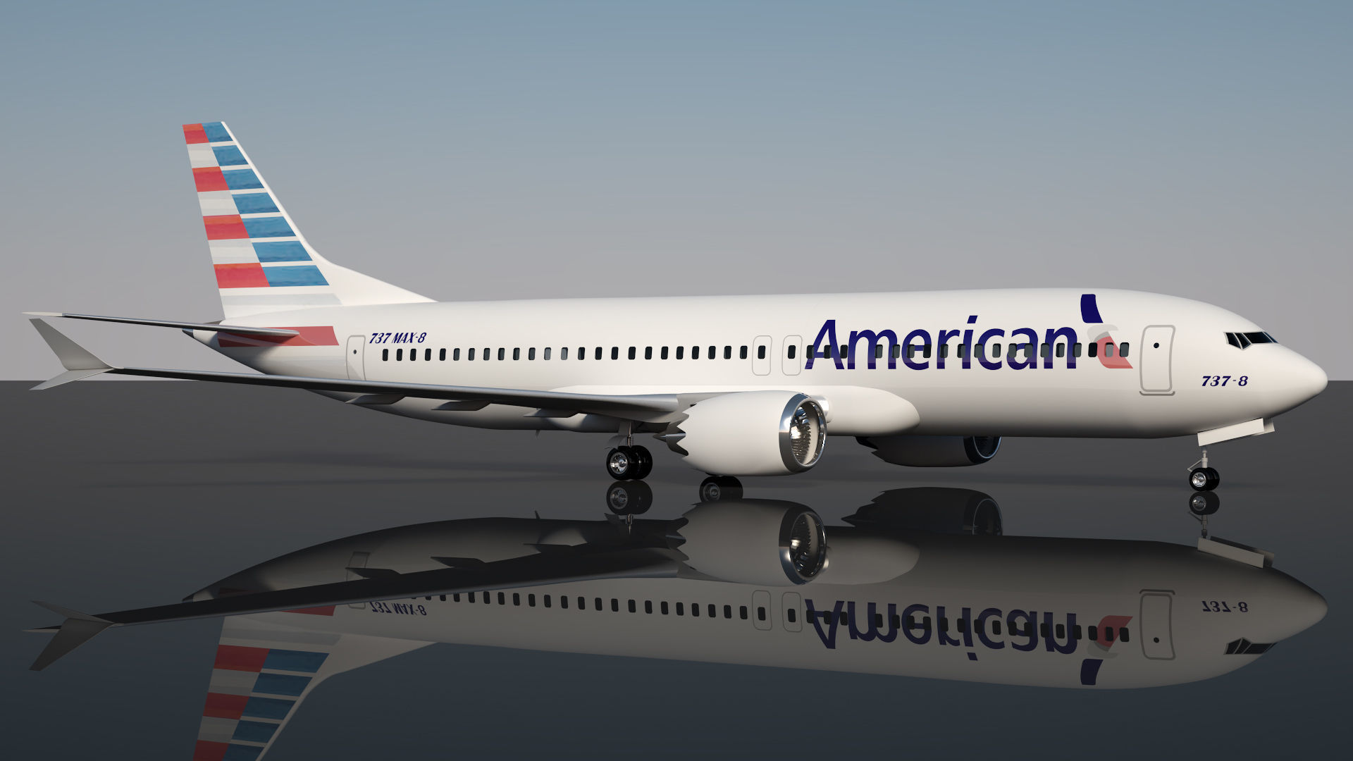 American Airlines 737 Max-8 | 3D model