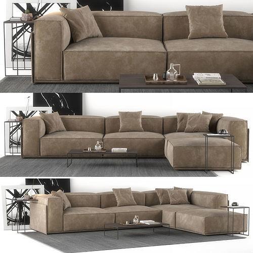 sofa salotti doimo roland 3d model max obj mtl fbx 1