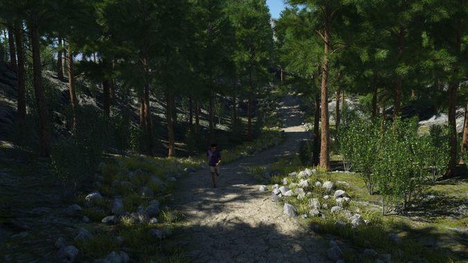 rough path in terragen 3d model obj mtl tgo 1