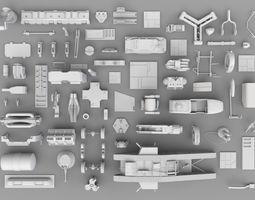 3D asset SFDEMIR Kitbash Collection Parts 0004