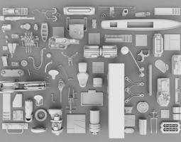 3D model SFDEMIR Kitbash Collection Parts 0005
